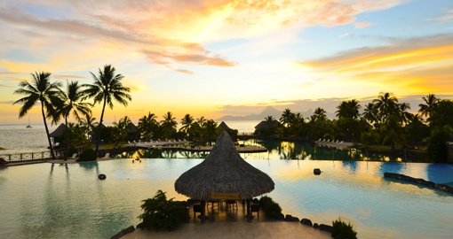 Sunset at Intercontinental Tahiti