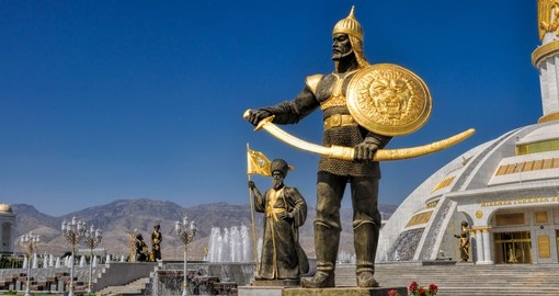Monument of Independence in Ashgabat, Turkmenistan