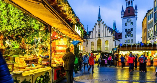 Munich's Christmas Market is held in the historic Marienplatz