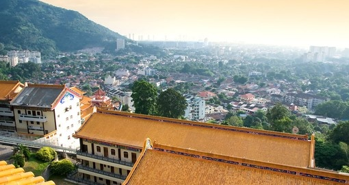 Stand above Penang from the Kek Lok Si Temple on your Malaysia Vacation