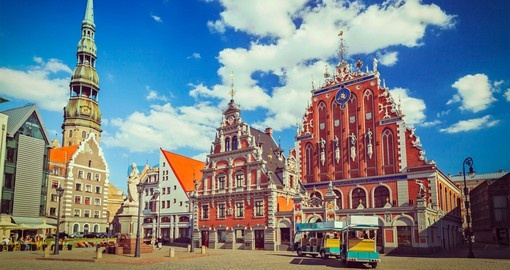 See Riga's Town Hall Square on your Latvia Vacation