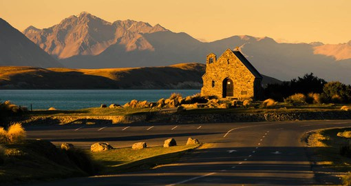 The Church of the good shepherd on the shores of Lake Tekapo Canterbury Province