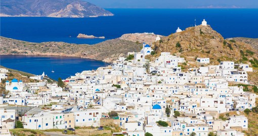 Trek from the coast to the hillside and visit the town of Choara on Ios Island where you can experience all that Greece has to offer on your Greek Vacations
