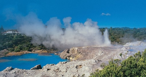Explore Geothermal activity in Rotorua during your next trip New Zealand.