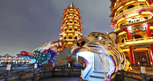 Dragon Tiger Tower - a popular inclusion on many Taiwan vacations.