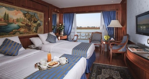 Experience all the amenities of the vessel on your next Egypt vacations.