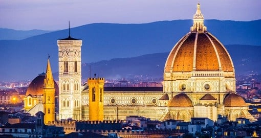 Experience the amazing view of Florence at night during your next Italy tours.