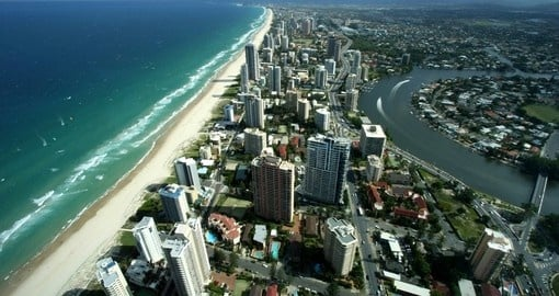 Aerial view of Gold Coast