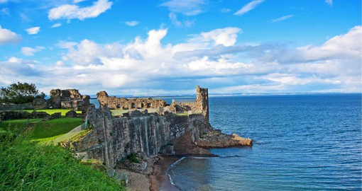 St Andrew's Castle is a picturesque ruin located in the coastal Royal Burgh of St Andrews