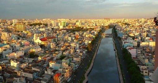 Impressive view of Ho Chi Minh City