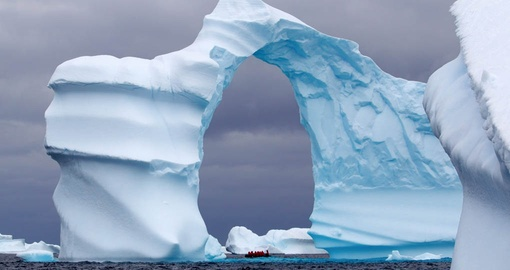 View awe inspiring icebergs on your Antarctica Cruise