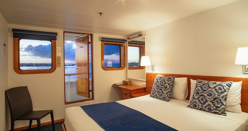 Wake up in the morning and looks out into the ocean off your cruise ship during your Trips to Fiji.