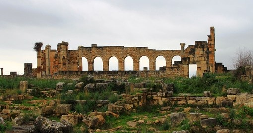 Explore Volubilis Ruins during your next trip to Morocco.