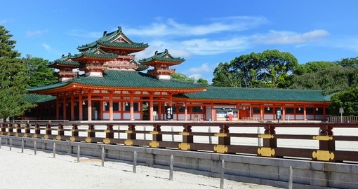 Visit this relatively new shrine in Kyoto and learn about the historical significance the Heian Shrine holds to the Japanese people on one of your Japan Tours