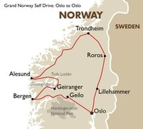 Grand Norway Self Drive: Oslo to Oslo