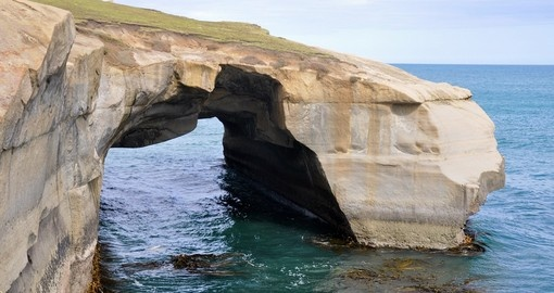 Tunnel Beach at Otago Peninsula
