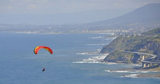 Paraglider at the Grand Pacific Drive