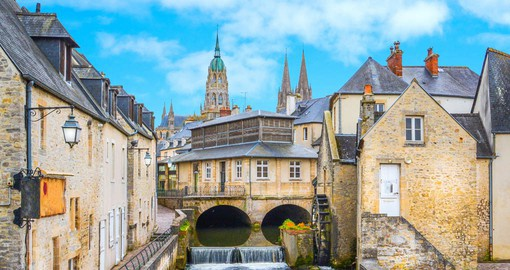 Medieval Bayeux is the home to the Tapisserie de Bayeux, depicting the Norman invasion