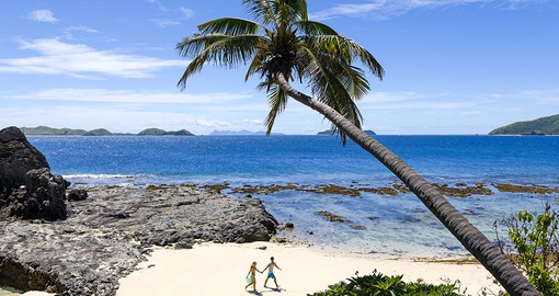 Stroll the beautiful beaches of the Mamanuca Islands on your Fiji Vacation