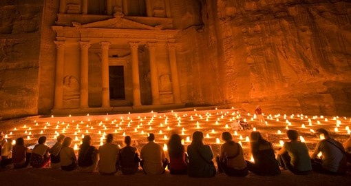 Night walk to the Treasury - A must inclusion for all Jordan tours.