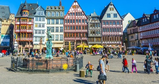 Roemerberg Sqaure - a popular tourist spot to include on all Germany vacations.