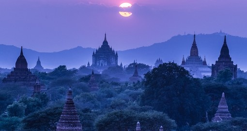 The Temples of the ancient city of Bagan