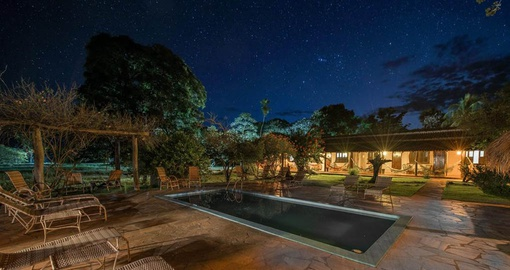 Enjoy all the amenities of the Araras Lodge Pantanal on your next trip to Brazil