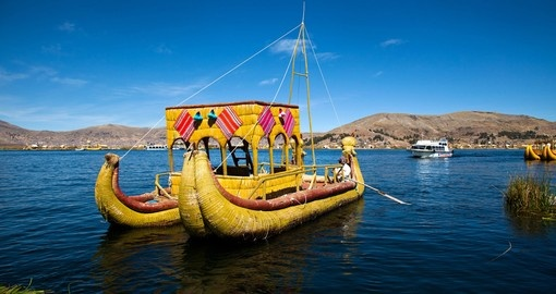 Reed Boat of the Uros Islands Lake Titicaca