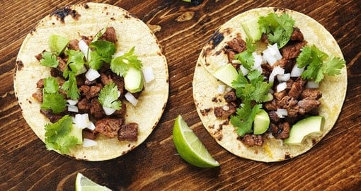 Authentic street tacos