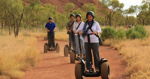 Experience Uluru at a relaxed pace from a Segway on your Australia Vacation
