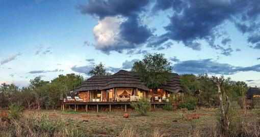 Madikwe Hills Game Lodge is situated on a rocky outcrop in the heart of the reserve