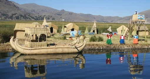 Uros Island Lake Titicaca is a popular inclusion on Bolivia tours.