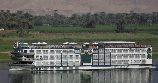 Relax as you cruise the Nile on your Egypt vacation