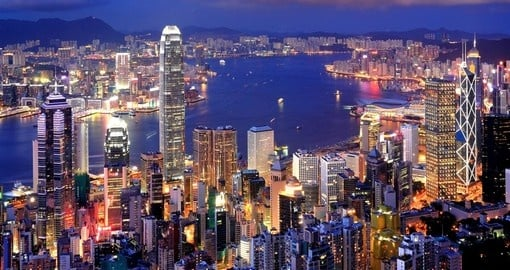 Taking a stroll throughout the city at night is one of the many things to do in Hong Kong