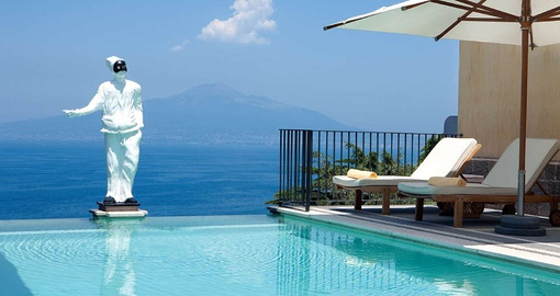 Unwind by the pool on your trip to Italy