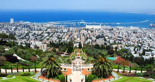 Discover Bahai Gardens in Haifa on on your next Israel vacations.