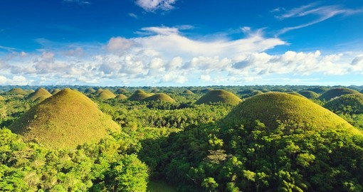 The Chocolate Hills of Bohol are a great photo opportunity on your Philippines vacation.