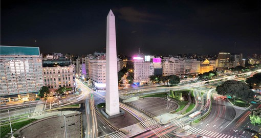 See the iconic Obelisk in Buenos Aires on your South American Tour