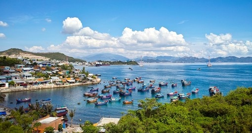Nha Trang is well known for its beaches and scuba diving and is included on many Vietnam vacation itineraries.
