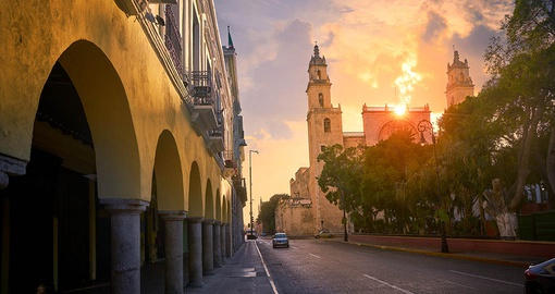 Stroll the cobbled streets of colonial Merida on your Mexico Tour