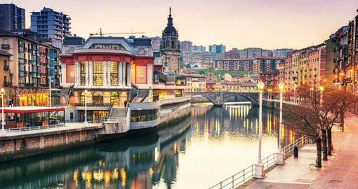In the lush Northeast of Spain is Bilbao, a once industrial city that now boast cutting edge architecture and a vibrant dining scene