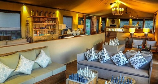 Tanzania travel includes time to relax in the Kuria Hills Lounge