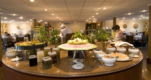 Enjoy delicious food in the Iberostar restaurant on your Brazil Tour