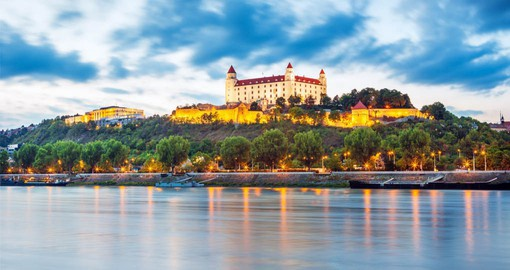 Bratislava,  Slovakia's capital since independence in 1993 is dominated by the magnificent Renaissance castle