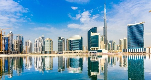 Take pictures of the incredible Dubai skyline during your Dubai vacation.