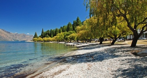Visit shore of Lake Wakatipu during your next trip to New Zealand.
