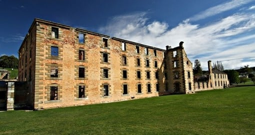 Tour the infamous ruins of the Port Arthur penal colony on your trip to Australia