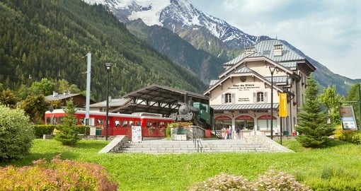 The Montenvers railway station, Mont Blanc