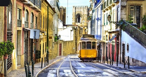 Romantic streets of Lisbon