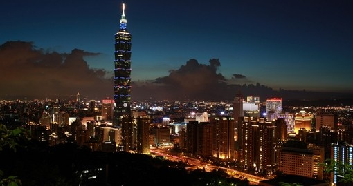 See the beautiful skyline of Taipei on your Taiwan Vacation